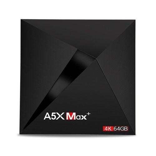 Lecteur multimédia A5X Max + TV Box 4K / 64GB HD pris en charge
