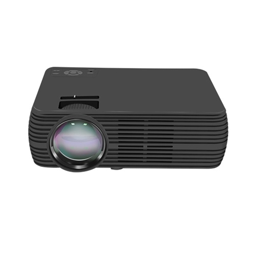 "X5 Mini LCD Projector 1080P 100"" Home Theater LED Video Projection Machine 1800 Lumens Built-in Speaker Portable Beamer Movies Player for Office Business Use EU Plug"