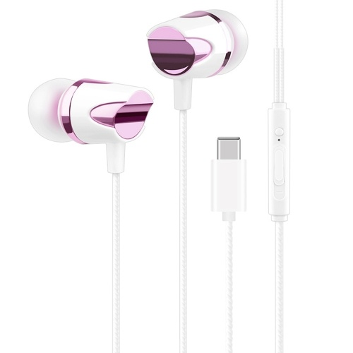 Portable USB Type-C Wired In-Ear Earphone With Mic