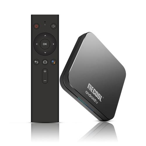 MECOOL KM9 Pro Smart 9.0 Lecteur TV avec lecteur multimédia Amlogic S905X2 Télécommande vocale 4 Go + 32 Go Wifi 4.0 Bluetooth Miracast Airplay