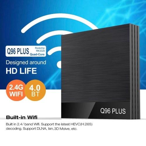 Q96 PLUS Smart Android 8.1 TV Box RK3328 Quad Core 4K 1080P Set Top Box VP9 H.265 BT4.0 4GB/32GB Miracast DLNA WiFi LAN HD Media Player with Digital Display US / EU Plug