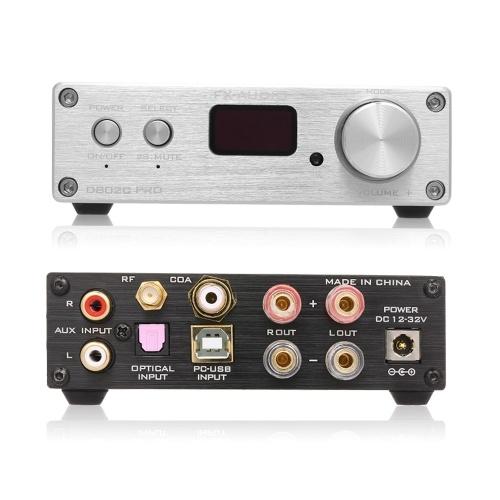 FX-Audio D802C PRO Audio Amplificador de potencia Inalámbrico Bluetooth 4.2 Soporte APTX NFC USB / AUX / Óptico / Coaxial Amplificador de audio digital puro de 24 bits 192 KHz