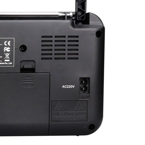Retekess TR604 AM / FM-радио для пожилых людей Двухдиапазонный радиоприемник с портативным аккумулятором и питанием от сети переменного тока, черный фото
