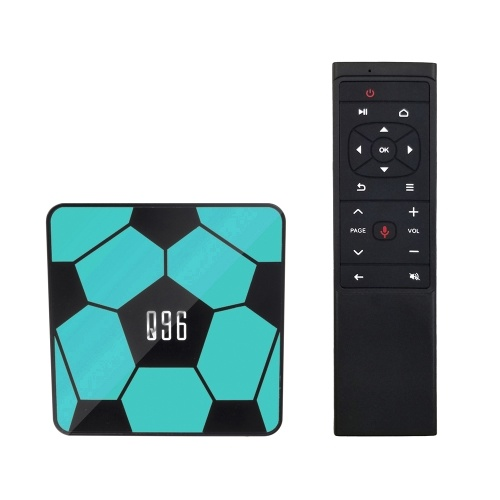 Q96 Smart Android 9.0 TV-Box RK3229 Quad Core UHD 4K Media Player 2 GB / 16 GB 2,4 G WiFi H.265 VP9 HDR10 Video Player Sprachfernbedienung