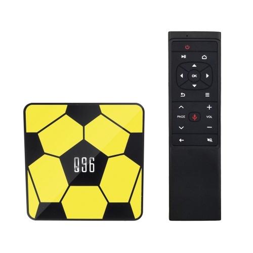 Q96 Smart Android 9.0 TV Box RK3229 Четырехъядерный UHD 4K Медиаплеер 2 ГБ / 16 ГБ 2.4 Г Wi-Fi H.265 VP9 HDR10 Видеоплеер Голосовой пульт дистанционного управления