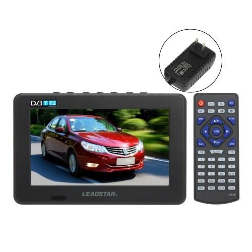 LEADSTAR Mini 7 дюймов DVB-T-T2 Цифровое аналоговое телевидение Разрешение 800x600 Портативный телевизор Поддержка PVR USB TF карта 800 мАч