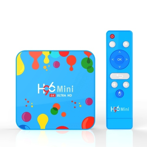 H96 Mini Allwinner H6 TV Box Dual WIFI BT4.0 Sistema Android 9.0 Quad Core 4K 6K Box TV