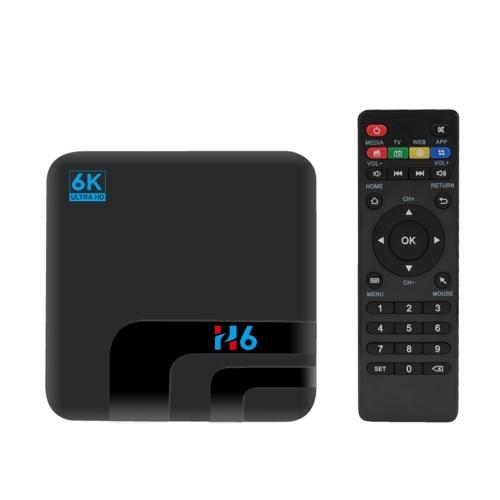 H6インテリジェントSTBセットトップボックス6K WifiメディアプレーヤーTVレシーバーネットワークTVセットトップボックス