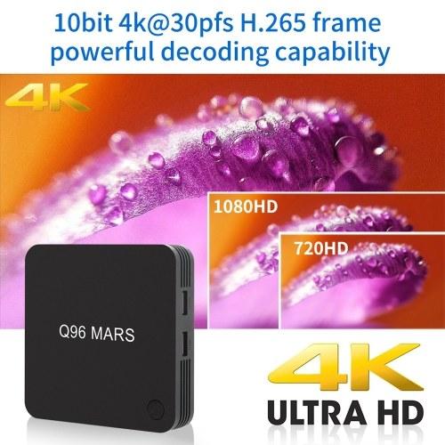 Q96 MARS Android 7.1 Smart TV Box Amlogic S905W Quad Core UHD 4K VP9 H.265 1GB / 8GB 2.4G WiFi 100M LAN HD Media Player with Remote Control