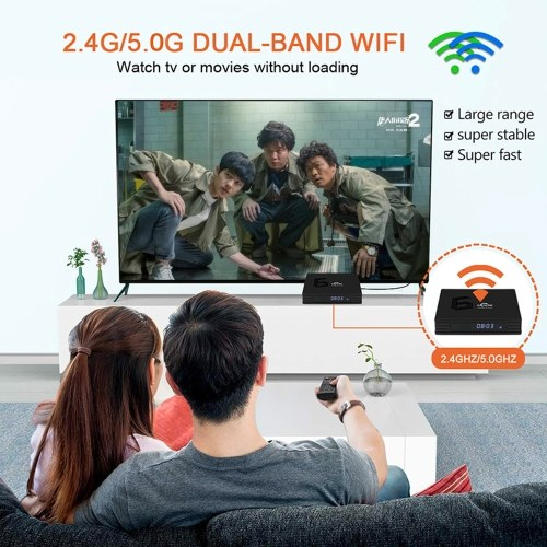 EACHLINK H6 MAX Android 9.0 Smart TV Box Allwinner H6 Quad-core 64 Bit 4K Media Player 6K HDR H.265 4GB / 64GB 2.4G / 5G WiFi LAN BT4.1 LCD Display