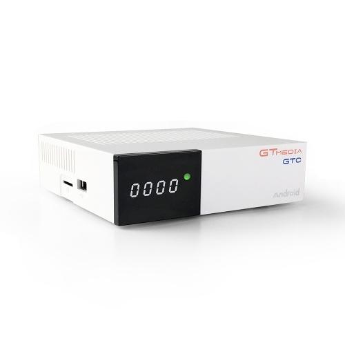 GTMEDIA GTC Android 6.0 CAIXA de TV DVB-S / S2 DVB-T / T2 / Cabo / ISDBT Set-top Box TV 4K Media Player Amlogic S905D 2 GB / 16 GB 2.4 G Receptor de TV WiFi BT4.0