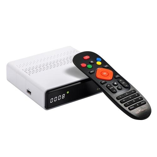GTMEDIA GTS Android 6.0 TV BOX DVB-S / S2 Decodificador integrado 2.4G WI-FI BT4.0 Amlogic S905D Reproducción 4K Receptor de TV Soporte Reproductor multimedia 3D Blanco