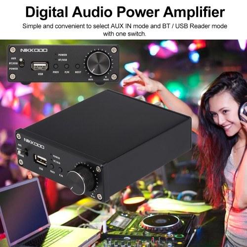 NIKKODO NK-368R Digital Audio Power Amplifier BT 4.0 Mini HiFi Audio Receiver Amp Dual Channel 50W + 50W with Power Adapter