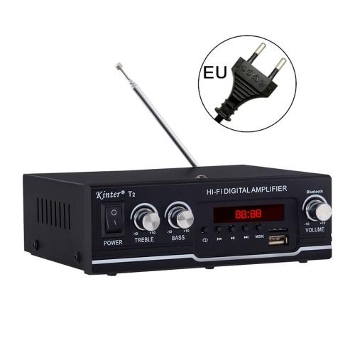 Цифровой аудиоплеер T2 BT Усилитель мощности 30 Вт с USB-входом FM-радио Управление сабвуфером для дома и автомобиля