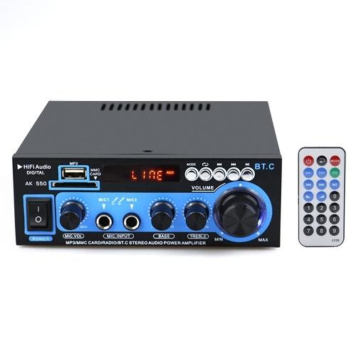 Amplificateur de puissance audio mini Récepteur audio numérique BT Lecteur MP3 AMP USB