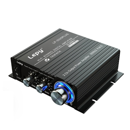 Lepy HiFi Stereo Class T Digital Audio Amplifier Power Amplifier Mini Home Stereo Audio Amp 50W*2 LP-2020PLUS