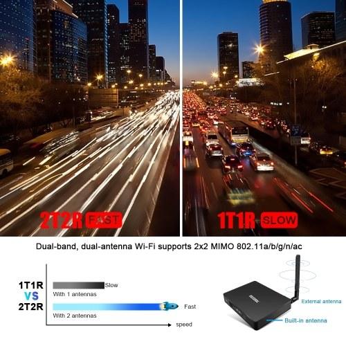 K7 Smart TV Box DVB-S2 & DVB-T2/T & DVB-C Set-top Box Android 9.0 S905X2 64 Bit 2.4G+5G Dual-band WiFi BT4.1 UHD 4K VP9 H.265 4GB/64GB