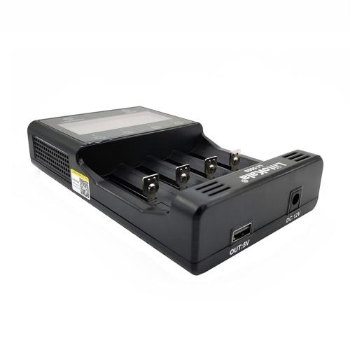 LiitoKala Lii-500S 18650 Carregador de bateria 4 Slots Tela LCD Controle de toque para lítio / NiMH 26650 AA Bateria AAA
