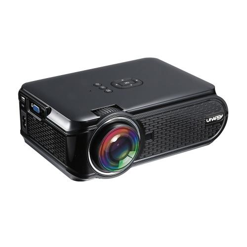 Proiettore LCD UHAPPY U90 LED 1080P Home Theater 1500 lumen Rapporto di contrasto 1000: 1 con porta USB VGA HD
