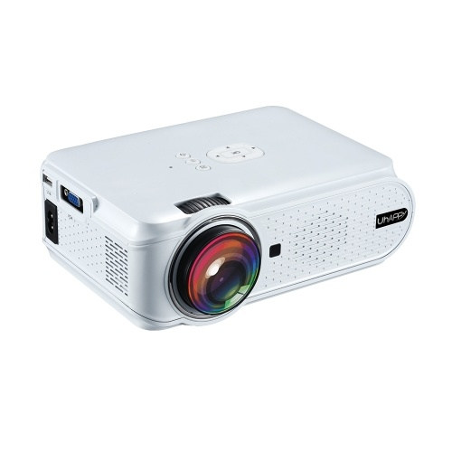 UHAPPY U90 LCD Projector LED 1080P Home Theater 1500 Lumens 1000:1 Contrast Ratio with HD VGA USB Port