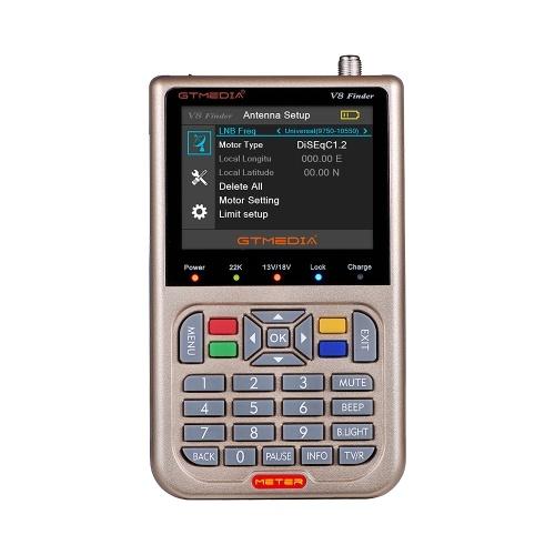 GTMEDIA V8 Finder TV Signal Finder Meter DVB-S/S2/S2X HD Digital Meter 1080P 3000mAh Battery