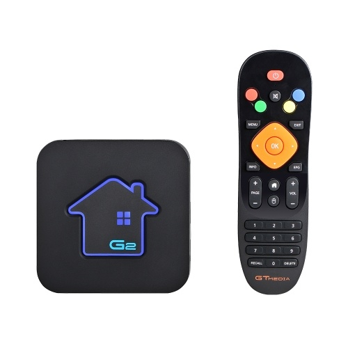 GTMEDIA G2 Android TV Box + IPTV Server Telecomando Ultra HD 4K Media Player HDR Android 7.1 Amlogic S905W 2G + 16G WiFi integrato