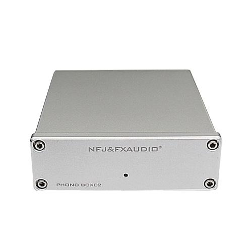 FX-AUDIO BOX-02 Hi-Fi Mini MM & MC Аудио усилитель для проигрывателя домашних кинотеатров