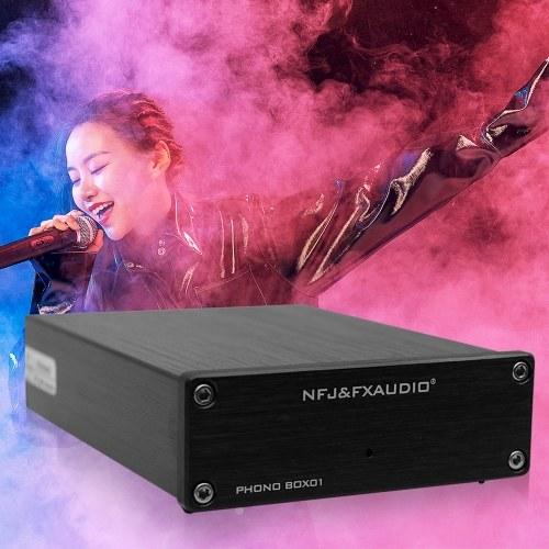 FX-Audio BOX01 Mini MM PHONOGRAPHIC Cartridge Preamp HIFI AMP Music Amplifier for Vinyl Record Player