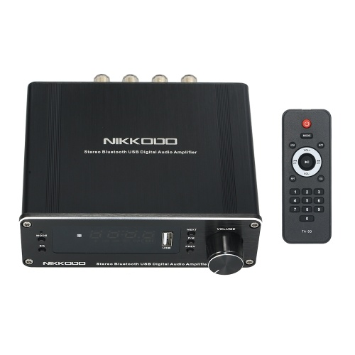 NIKKODO NA-568 Mini amplificador receptor de audio de alta fidelidad Receptor de audio Bluetooth 5.0