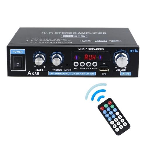AK35 Mini amplificador de potencia de audio Amplificador de sonido portátil Amplificador de altavoz para automóvil y hogar