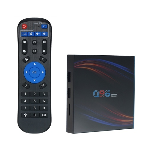 Q96HERO Android 10.0 Smart TV Box Allwinner H616 Quad-core UHD 4K Media Player 6K HDR H.265 VP9 4GB / 32GB 2.4G & 5G WiFi BT5.0 100M LAN LCD Display Remote Control