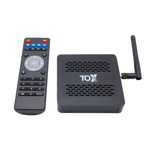 TOX1 Smart Android 9.0 TV Box S905X3 Cortex-A55 Quad Core 64 Bit 4GB / 32GB 2.4G и 5G WiFi и 1000M LAN 4K H.265 VP9 Декодирование Miracast HD Media Player