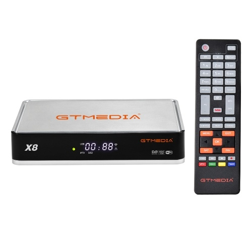 GTMEDIA X8 TV Receiver DVB-S2 S2X Set Top Box HD 1080P Video Player Built-in WiFi Support BISS Auto Roll Decoder
