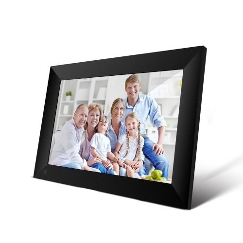 P100 WiFi cadre photo numérique 10,1 pouces 16 Go cadre photo électronique intelligente contrôle de l'application envoyer des photos écran tactile vidéo 800x1280 IPS panneau LCD