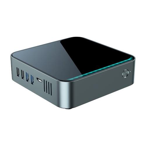 Мини-ПК, совместимый с ОС Windows 10 Настольный игровой ПК Компьютер Apollo Lake J3455 4-ядерный медиаплеер UHD 4K 8 ГБ / 128 ГБ 2,4 ГБ / 5 ГБ Двухдиапазонный Wi-Fi 1000M LAN BT5.0 HD VGA SATA3.0