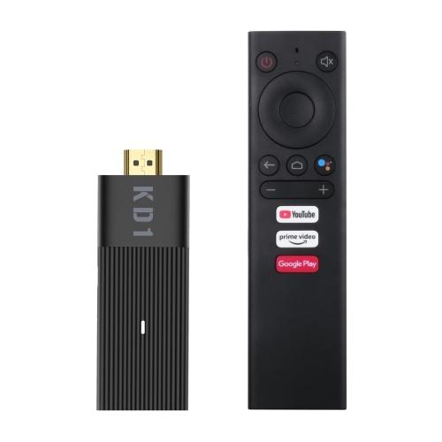 MECOOL KD1 Android 10.0 Smart TV Stick UHD 4K Media Player Amlogic S905Y2 TV Dongle 2GB / 16GB 2.4G / 5G WiFi Голосовой пульт дистанционного управления Сертификат Google HDR10 Декодирование H.265 VP9