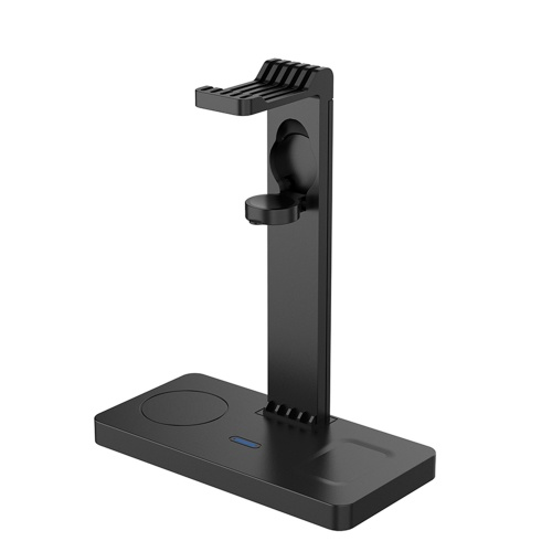 4 in 1 Wireless Charger with Headset Bracket Fast Charging Station Headphone Holder Stand Replacement for Apple iWatch AirPods 2/3 iPhone 12-8 Series Wireless Charging Dock