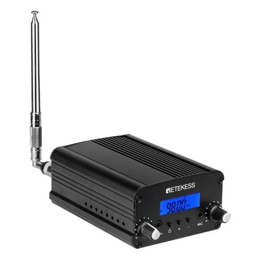 Retekess TR509 Беспроводной FM-передатчик Стерео Радиостанция Кампусный усилитель Двойной режим с антенной для въезда в церковь