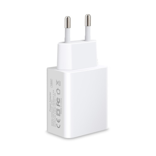 18W Quick USB Wall Charger Charging Adapter Compatible with iPhone Samsung Huawei USB Charger