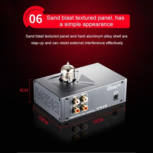 XDuoo/MT-601 High Performance Headphone Amplifier 6N11/E88CC Tube Transistor Headphone Amplifier Pre-Amplifier with AUX in/Out HiFi Headphone Vacuum T