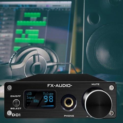 FX-AUDIO D01 DAC AMP BT 5.0 DAC Digital to Analog Converter Headphone Amplifier Audio Amplifier Optical/PC-USB/Coaxial