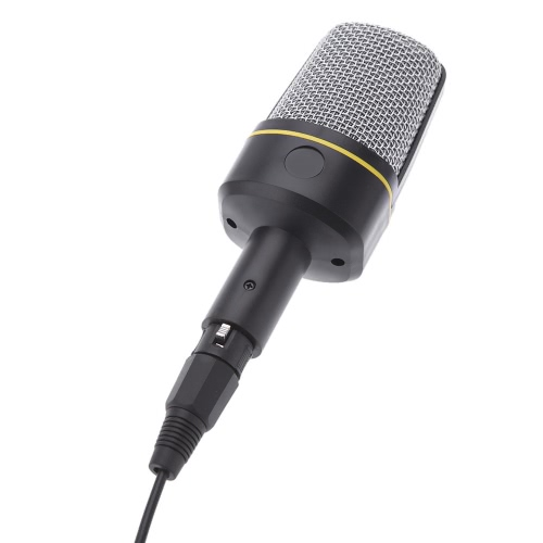 New Classic Professional 3.5mm Condenser Microphone Karaoke Chatting Microphone with Special Tripod for Desktop Tablet PC Laptop Studio Notebook MP3 Recorder.