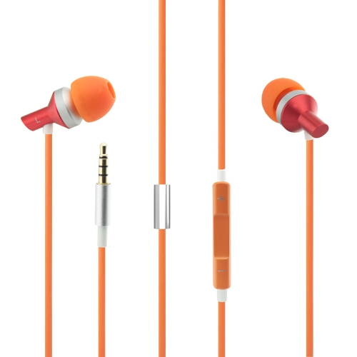 Ultra-light Metal Anti-winding Earphone Headset Headphone Earbuds with Microphone for iPod iPad iPhone Android