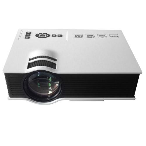 Buon-vendita UC 40 Portatile 800 Lumen 1080P Completa HD LED Proiettore Rapporto di contrasto: 800:1 con Telecomando