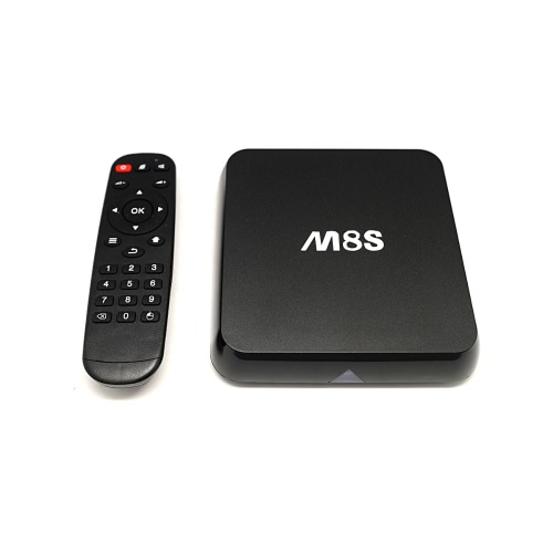 M8S Android 4.4 TV Box Amlogic S812 Quad Core Cortex-A9 2G / 8G XBMC DLNA Miracast Airplay H.264 / H.265 4K * 2K 5.0G / 2.4G 802.11a/b/g/n BT 4.0 Smart Media Player with Remote Controller