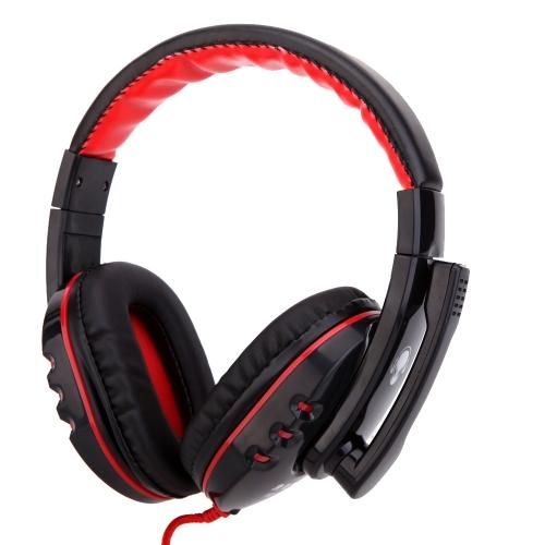 Professional Gaming Game Headphone Hifi Stereo Headset Earphone with Mic 3.5mm Plug for CS DOTA2 PC Computer Laptop Notebook