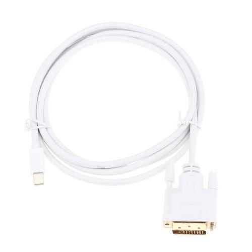6Ft / 1.8m Mini Display Port DP (Мужской) для DVI-D (Мужской) Конвертер для MacBook MacBook Pro MacBook Air