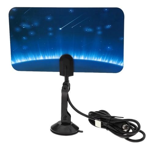 Andoer TV  HDTV DTV Antenne Numérique Intérieure Plate Design Soutenez la  Réception de Signaux UHF VHF / Free Numérique / analogique des signaux  Haut Gain US Plug