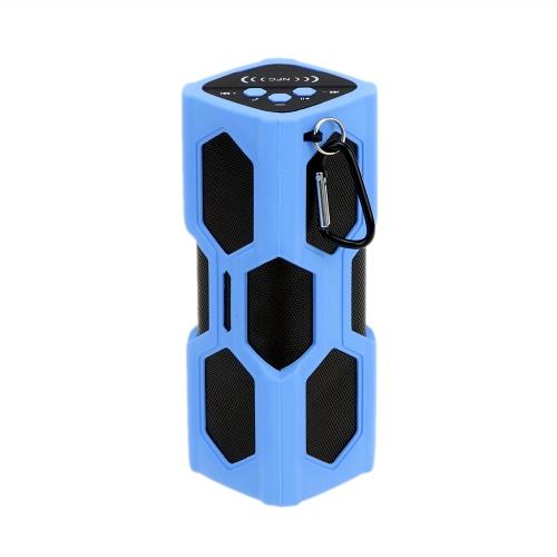 Bluetooth 4.0 Wireless NFC Stereo Speaker Music Soundbox Speakerphone Handsfree with 3600mAh Power Bank Microphone Water-resistant Shockproof Outdoor Travel Portable