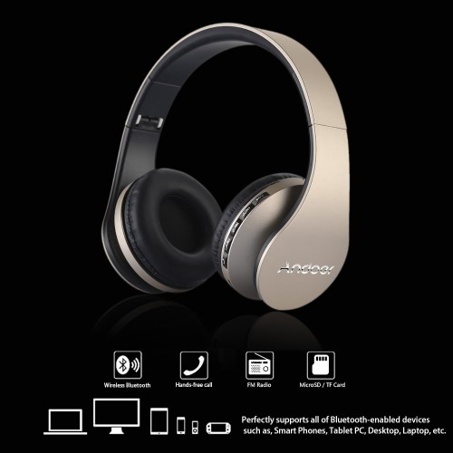 8f079b1b459 Andoer Bluetooth Over-ear Headphone Digital 4 in 1 Stereo Headsets  Bluetooth 4.1 + EDR Earphone Wireless & Wired Hands-free Earphone with Mic  MP3 Player TF ...